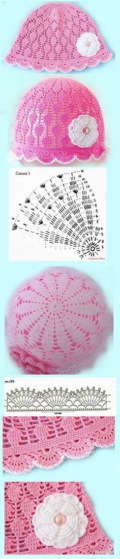 [] # # #Summer #Hats, # #Crochet #Baby #Hats, # #Capellini, # #Knitting, # #Gorros #Crochet, # #Children #Caps, # #Tissue, # #Bebe, # #Patterns