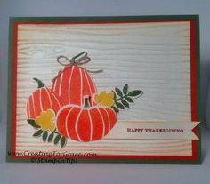 Stampin' Up! Fall Fest and Fun Fall Framelits