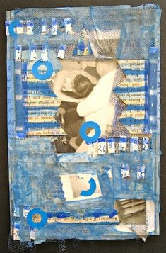 """Art collage, S.Ende-Saxe, """"The Blue Party""""."""