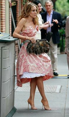 That dress, the feathered clutch, nude shoes, the hair. I can't even...