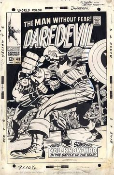 Cover to DAREDEVIL #43 by Jack Kirby and Joe Sinnott