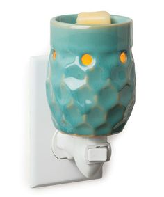 Look at this #zulilyfind! Turquoise Honeycomb Plug-in Wax Warmer #zulilyfinds