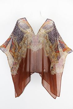 Soft Pure Silk Chiffon Abstract Animal Print by MollyKaftans