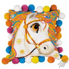 Pillow - Goldrinn Horse - Cross Stitch Kits by RIOLIS - 1380