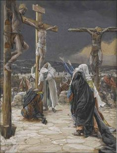 """And when Jesus had cried with a loud voice, he said,  'Father, into your hands I commend my spirit'"" (Luke 23:46). Seventh of Seven Last Words Of Christ On The Cross.   Image by James Tissot"