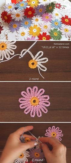 Lovely Crochet Flower Pattern You Need To Learn – Crochet Flowers The Effective Pictures We Offer You About ganchillo crochet patrones A. Crochet Motifs, Crochet Flower Patterns, Afghan Crochet Patterns, Flower Applique, Thread Crochet, Crochet Designs, Crochet Crafts, Crochet Flowers, Crochet Stitches