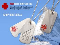 Medical Alert ID Bracelets, Medical ID Dog Tags for Men | Lauren's Hope  @Christian Mitchell