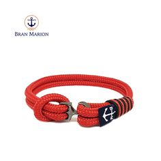 Alpbach Nautical Bracelet by Bran Marion Nautical Bracelet, Nautical Jewelry, Marine Rope, Azul Real, Sailors, Everyday Look, Anklet, Handmade Bracelets, Color Combinations