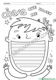 APRENDER A REDACTAR COSAS QUE ME HACEN FELIZ- Homeschool, Language, Classroom, Teacher, How To Plan, Math, Comics, Creative, Child Psychotherapy