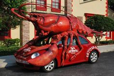 Boston Lobster Feast car in Orlando, FL What could be more fun that driving a lobster around town?