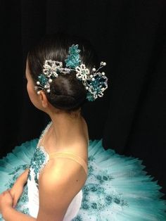 Bun Tiara/Headband The Vivienne Buy Dance tiaras, Swarovski crystal beaded headpieces for ballet dancers