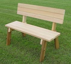 48 Park Bench 48 Hillsfield bench with Back The post 48 Park Bench appeared first on Wood Diy. Pallet Garden Benches, Outdoor Garden Bench, Wood Benches, Outdoor Pallet, Wood Tables, Outdoor Dining, Diy Garden Furniture, Outdoor Furniture, Childrens Garden Furniture