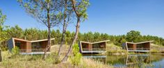 Further solidifying the close relationship with its environment, the wooden cabins were also built with as many locally-sourced materials as possible.