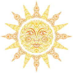 sun face, for quilling?