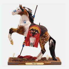 trail of painted ponies figurines | The Trail of Painted Ponies horse figurine - War Cry