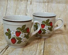 Regency Designer Collection Stoneware Coffee Cup Strawberries Mug Made In Japan #Regency