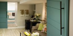General wall colour in Coin Silver (P2146-04) and barn door in Surfer's Paradise (P5106-02). As seen on Season 2 of HGTV Canada's The Expandables!