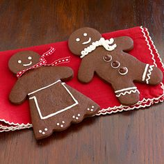 Ghirardelli Chocolate Gingerbread Men Recipe | Spicy chocolate gingerbread men will make your cookie tray stand out this year, and they make great gifts, too.