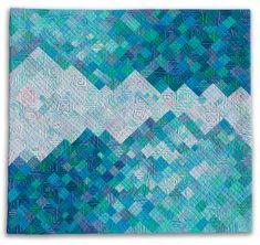 "Glacier Bay, 29 x 31""by Diane Melms. Compex Cloth series."