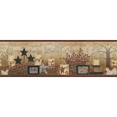 """You'll love the The Cottage Caring Candles 30' x 6"""" Floral Border Wallpaper at Wayfair - Great Deals on all Décor  products with Free Shipping on most stuff, even the big stuff."""