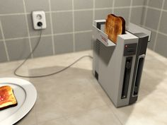 NES gaming console transformed into a working toaster. Whoa.