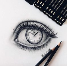 Pin by joana dermenjieva on art in 2019 drawings, eye sketch, art sketches. Clock Drawings, Cool Art Drawings, Pencil Art Drawings, Art Drawings Sketches, Beautiful Drawings, Cool Drawings Tumblr, Graphite Drawings, Art Illustrations, Beautiful Pictures