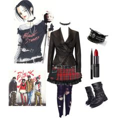 Designer Clothes, Shoes & Bags for Women Anime Outfits, Grunge Outfits, Nana Manga, Nana Osaki, Gothic Glam, Gothic Looks, Dress Drawing, Cosplay Diy, Look Alike