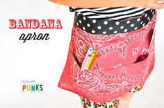 DIY How To Make A Bandana Apron. by momtastic.com via livingwithpunks.com