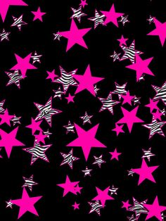 Zebra/pink stars wallpaper
