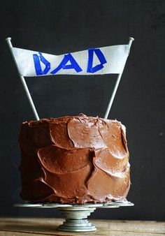 The Perfect (and easy!) Fathers Day Cake-Banner using Industrial Size Nails and Duct Tape!