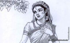 To view Radharani wallpapers in difference sizes visit - http://harekrishnawallpapers.com/srimati-radharani-artist-wallpaper-006/