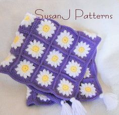 Crochet Pattern  Flowers for Granny  Baby by BassWoodStitchery, $4.00