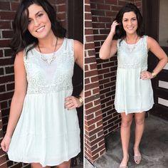 Mint Lace Overlay Dress