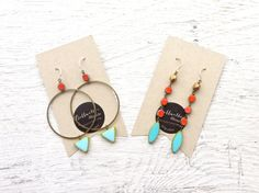 Jewelry Gift Set // Turquoise Earrings // Made by Bellwether Blonde