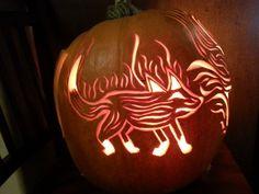 Creatures of Fire - 2014 - Left Side - Firefox - Halloween Pumpkin - Jack-o-lantern