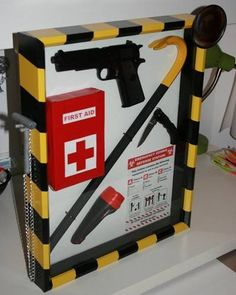 Zombie Preparedness Kit - a must have for anyone interested in home defense