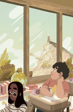 The cover that I worked on for BOOM!'s upcoming Steven Universe OGN got announced today! A million thanks to AD Whitney Leopard!Art by http://livertaker.tumblr.com/