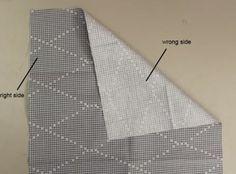 """¿Cómo sé qué lado a coser  A TELA TIENEN DERECHO Y REVES.   """" tener en cuenta, el lado derecho es típicamente el lado  o la cara que quiere que la gente vea. Si el tejido es realmente el mismo en ambos lados, como una muselina, sólo tratar de mantener sus lados    hacks-25 de coser"""