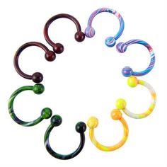 Aro abierto multicolor con bolas de 3mm