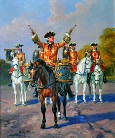 French trumpeter and regimental drummer of the Maison du Roi