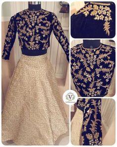 2b1abeecee57 Skirt And Crop Top Indian Velvet 56 Ideas #skirt Full Sleeves Blouse  Designs, Full