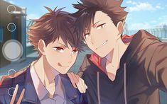 HD wallpaper: anime, anime boys, Kurō Tetsurō, Tōru Oikawa, Haikyuu