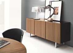 Calligaris Seattle Contemporary 3 Door Sideboard in Various Gloss or Wood Finishes