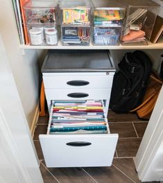 Conquer Mail Clutter Once and For All - Polished Habitat Office Organization At Work, Home Office Storage, Home Office Setup, Closet Organization, Office Ideas, Organizing Paperwork, Organizing Ideas, Home Library Design, Backyard For Kids