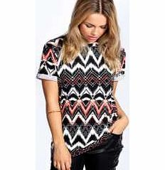 boohoo Aztec Print T Shirt - multi azz22919 Make your top a talking point with textures - think brocades, quilting and fluffy-feel. Jersey kinda gal? Shake it up with shapes. Crop tops get cutting edge in boxy, boyfriend fit shapes and shell to http://www.comparestoreprices.co.uk/womens-clothes/boohoo-aztec-print-t-shirt--multi-azz22919.asp
