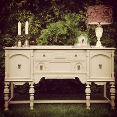 Painted Buffet Distressed Furniture, Refurbished Furniture, Repurposed Furniture, Furniture Makeover, Vintage Furniture, Furniture Decor, Painted Furniture, Furniture Making, Furniture Refinishing