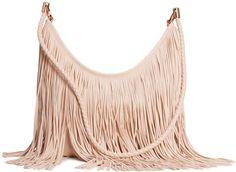 H&M - Hobo Bag with Fringe - Natural white - Ladies