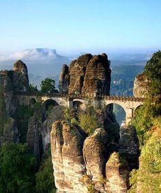Bastei Bridge in Saxon, Switzerland