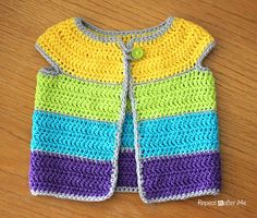 Cap sleeve cardigan - Free crochet pattern