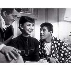 Dean Martin, Audrey Hepburn, and Jerry Lewis